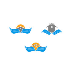 set of wing house logo vector image