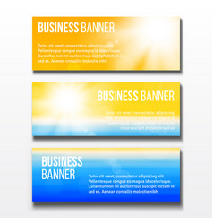 Set three business banners vector