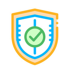 Shield guard protection approved mark icon vector
