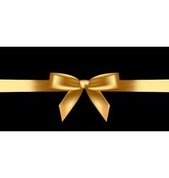 Shiny gold bow vector