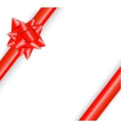 shiny red bow vector image