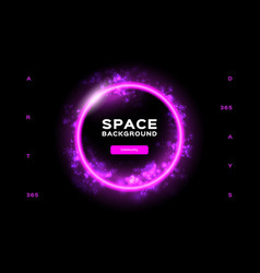 space background futuristic planet dynamic flow vector image