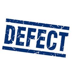 Square grunge blue defect stamp vector