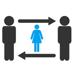 Swingers exchange girl icon vector