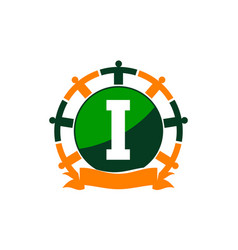 Synergy logo initial i vector