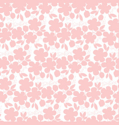 Tender pastel rosy sakura flowers seamless pattern vector