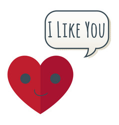 Valentine day i like you image vector