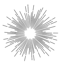 Vintage monochrome star rays vector image
