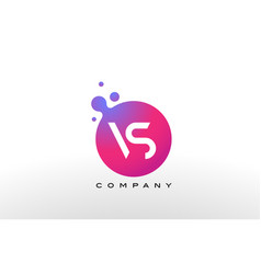 vs letter dots logo design with creative trendy vector image