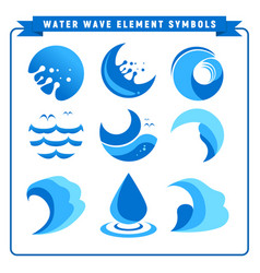 water wave element symbols vector image