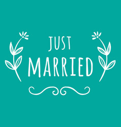 Wedding just married image vector