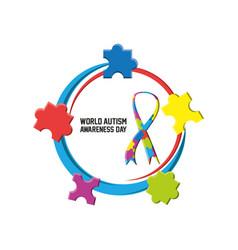 world autism awareness day design vector image