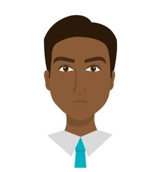 Young businessman profile over white background vector