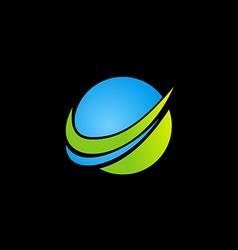 Abstract globe technology logo vector