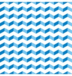 Aztec Chevron blue seamless zigzag pattern vector image vector image
