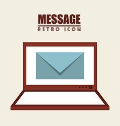 isolated retro icon vector image