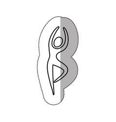silhouette person dancing icon vector image vector image