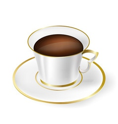 white cup with black coffee vector image