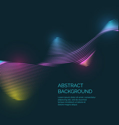 abstract background with a colored dynamic vector image vector image