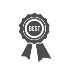 Best first prize medal icon vector image