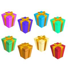 gift boxs vector image vector image