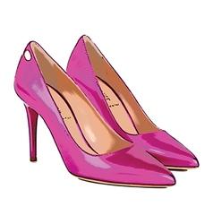 Pink heels vector image