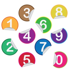Stickers with numbers vector image vector image
