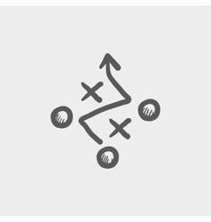 Tic-tac-toe sketch icon vector image