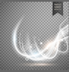 abstract transparent white light effect background vector image vector image