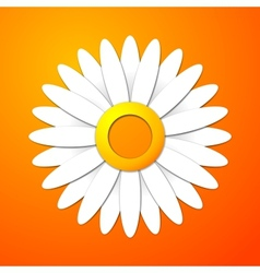 Applique cut flower with leaves and shadows vector image vector image