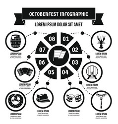 octoberfest infographic concept simple style vector image