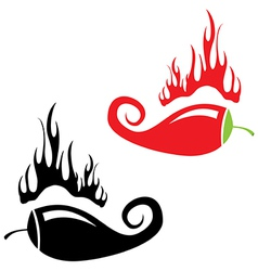 Red hot chili peppers icon vector image vector image