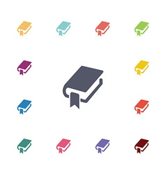 book bookmark flat icons set vector image