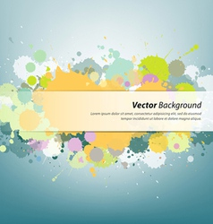Colorful ink painting background vector image vector image