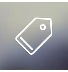 Empty tag thin line icon vector image