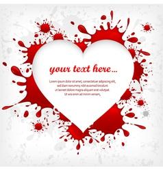 splash heart red shape 10 v vector image vector image