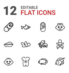 12 little icons vector