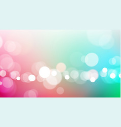abstract bokeh lights on colorful background vector image