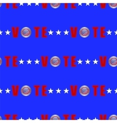 American Vote Seamless Pattern vector image