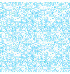 analytics white seamless pattern vector image