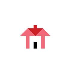 arrows house home icon logo real estate symbol vector image