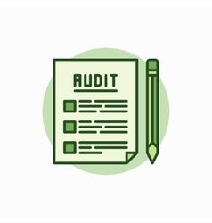 Audit documents green icon vector