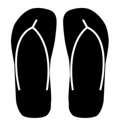 beach slippers icon on white background beach vector image