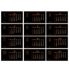 black calendar vector image