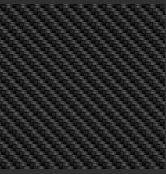 black carbon textured background with fiber weave vector image