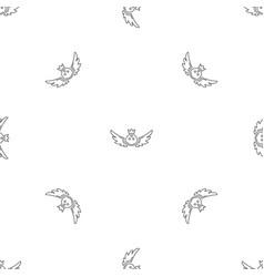bowling king emblem pattern seamless vector image