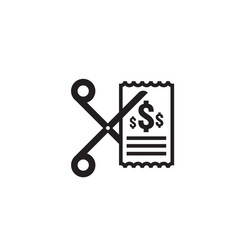 Business cost reduction icon money dollar vector