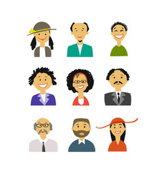 business people set simple icons for ypur vector image