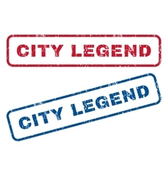 City Legend Rubber Stamps vector