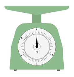 Colored domestic weigh-scales vector